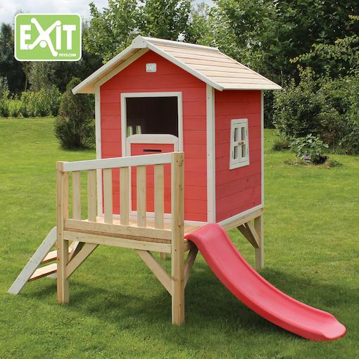 stelzenhaus beach 300 mit rutsche rot spielgeraete. Black Bedroom Furniture Sets. Home Design Ideas
