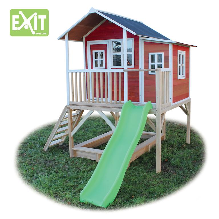stelzenhaus loft 550 mit rutsche rot spielger te discount. Black Bedroom Furniture Sets. Home Design Ideas