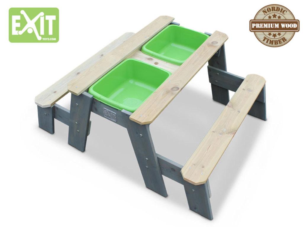 sand wasser picknicktisch mit 2 b nken. Black Bedroom Furniture Sets. Home Design Ideas