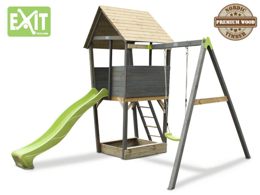 Fabulous Spielturm Aksent mit Schaukel LS46