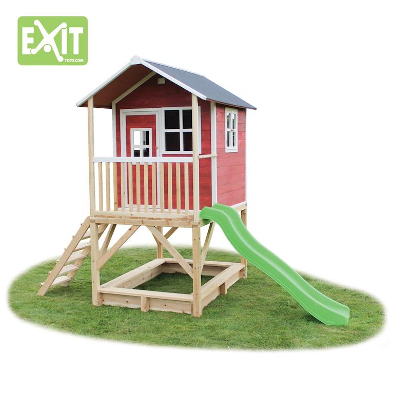 spielger te discount stelzenhaus loft 500 mit rutsche rot. Black Bedroom Furniture Sets. Home Design Ideas